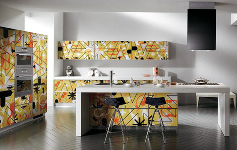 Crystal Kitchen giving dynamism from Karim Rashid and Scavolini