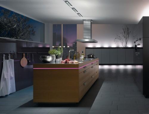 LED kitchen lighting sense to make wider space