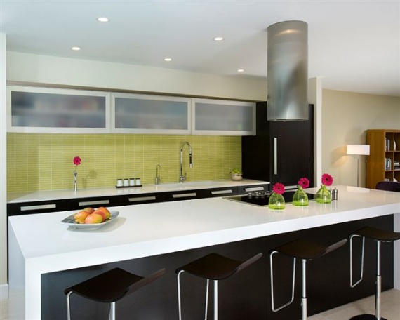 Modern kitchen countertop design