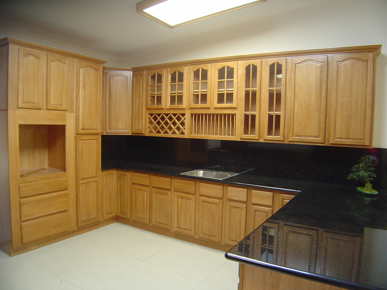 oak kitchen cabinets for your interior kitchen minimalist