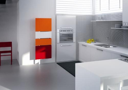 Rotated kitchen cabinets for small kitchen create a stunning visual at home