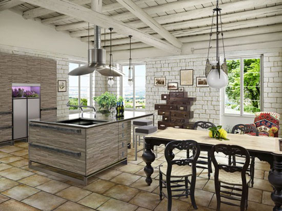 design small white kitchen of ultra bright small space hawaii