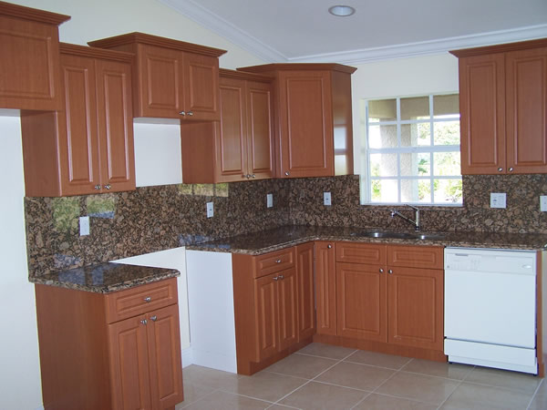 Kitchen cabinets brown paint for Thermofoil cabinets