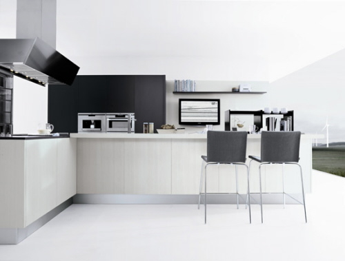 contemporary simple kitchen style minimum clutter