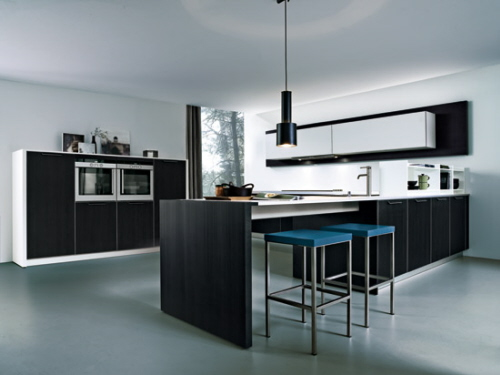 Contemporary simple kitchen style with a minimum amount of for Simple kitchen designs modern