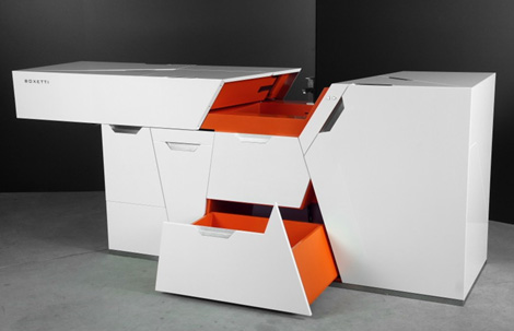 cool compact kitchen smart modular compact homes and condos by Boxetti