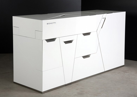 cool compact kitchen smart modular for compact homes and condos by Boxetti