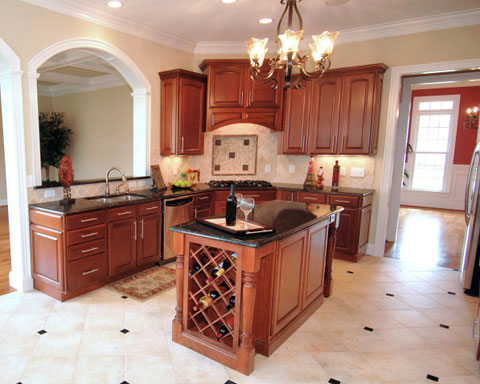 ideas for wine bottles in traditional style kitchen | Kitchen Design