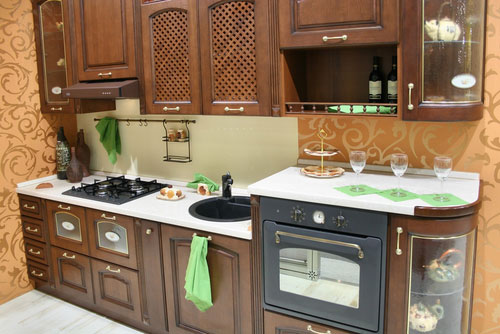 wallpaper kitchen cabinets. space for kitchen cabinets
