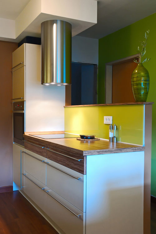 futuristic kitchen lighting for small condominium kitchen