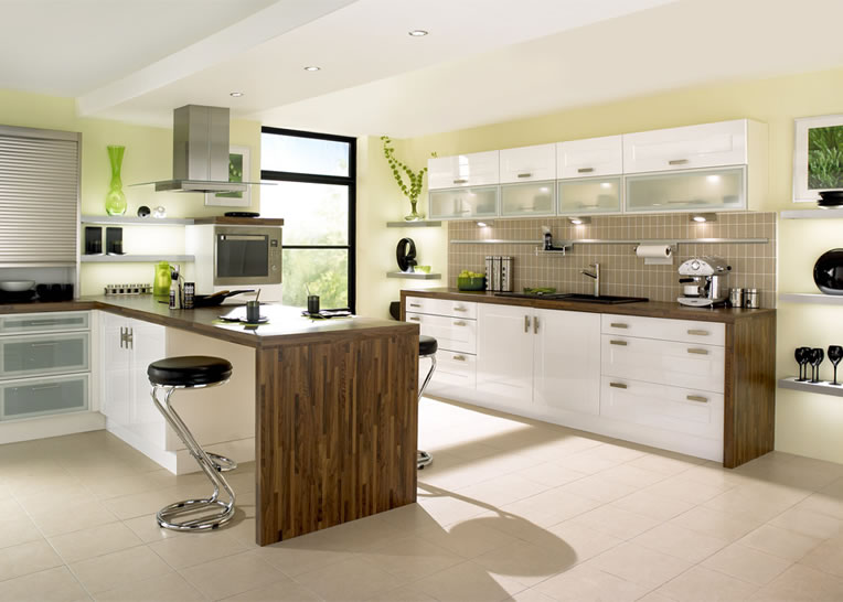 wall cabinets kitchen on Green Kitchen Is Perfect Choice For A Kitchen Wall And Cabinets Color
