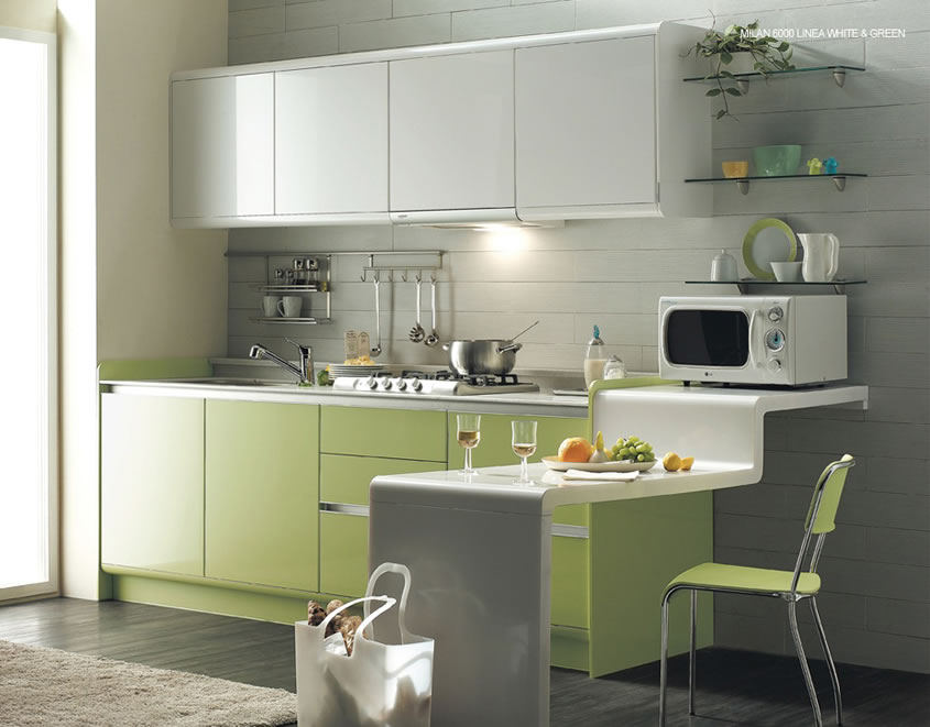 Green Kitchen Is Perfect Choice For A Kitchen Wall And Cabinets Color Kitch