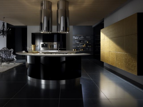 half circle kitchen island artistic kitchen designs