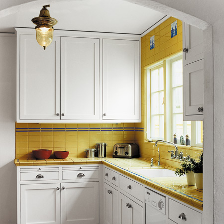 In addition, the white color will help your kitchen look bigger and broader.