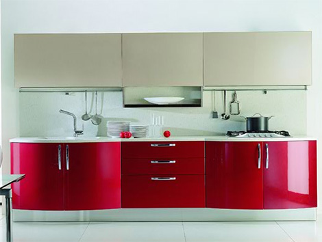 modern cosmopolitan kitchen is simple