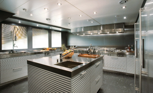 modern kitchen well appointed yacth