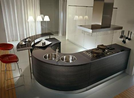 round countertop kitchen design