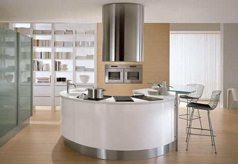 round countertop kitchens by Pedini