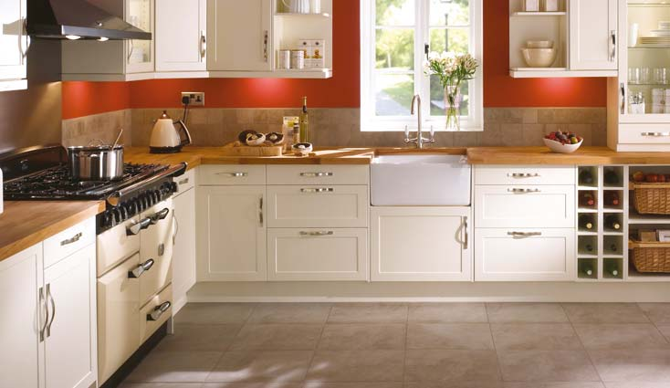 kitchen design, shaker cream kitchen plus modern living  Shaker Cream