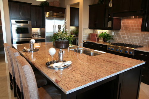 Kitchen Island Granite Pictures - Natural Stone and Granite