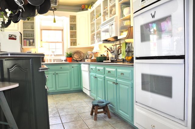 turquoise kitchen design
