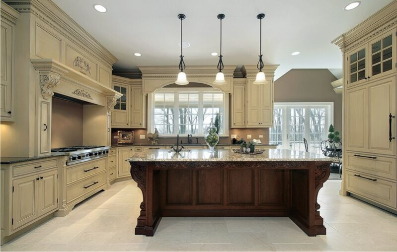 Kitchen cabinet refacing ideas two tone color kitchen for Two colour kitchen units